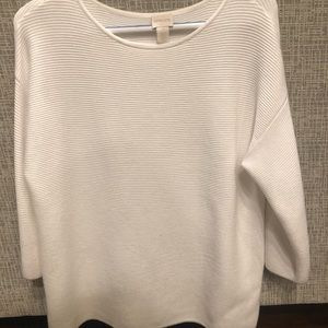 Ribbed white sweater